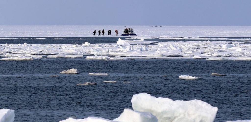 Prie Sachalino atitrūkus ledo lyčiai gelbėjama 600 žvejų